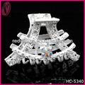 Francés de la torre Eiffel forma el accesorio del pelo de la boda