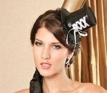 MYLOVE black fascinator party hat festival headwear MLGM036