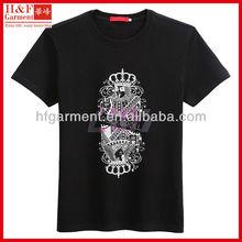 Trendy brand men t-shirt in black with ROCK printed pattern