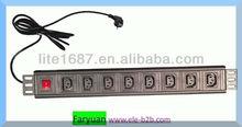 IEC320 C13 Power PDU,19'' cabinet , 8 way horizontal Power Distribution Unit