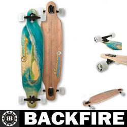 Backfire 2013 wholesale hot cheap 7 ply canadian pro maple wood skateboard custom longboard