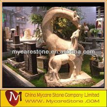 Outdoor Garden ,White Marble Statue,Griaffe