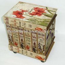 2013 New Flower Design Wooden Drawer Cabinet