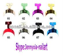 Metallic French Edge Tip Nail Tips Acrylic UV Gel Wrap Edge Nail Tips
