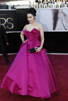LEV-058 The 85th Annual Oscars Academy Awards Red Carpet 2013 Chinese Celebrity Bingbing Fan Designer Evening Dress Patterns