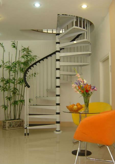 De acero de caracol de madera prefabricada escaleras para - Escalera caracol prefabricada ...