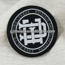 round shape high density woven label for garment