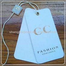 Die-cutting screen printing paper gift hang tag design
