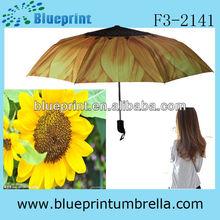 21inches custom 3 foldings umbrella suits design