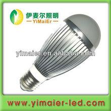 7w bady pc mask black aluminum led bulb lamps with screw base