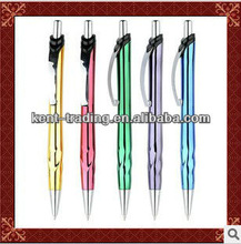 cheaper click metal ballpoint pen multi-color pen promotional pen for school