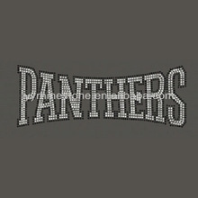 Panthers Iron On Rhinestone Transfer Design