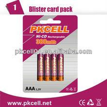 Aaa batterie al nichel cadmio 1.2v tensione