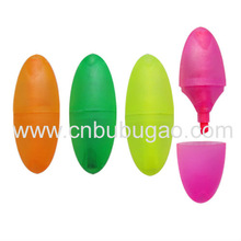 Mini highlight pen wit an egg ship/drawing pen for child with a cute shape/cheap giftpen