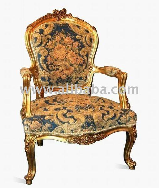 De estilo luis xv brazo de la silla sillas sala estar - Silla estilo luis xv ...