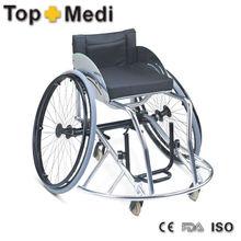 Aluminum frame Basketball forward Sports Wheel Chair with manual rear wheel Aluminum chair frame high back reclining wheelchair