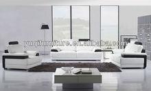 2013 Hot Sale French Sofa 1+2+3 modern design Top Grain leather Sectiona Sofa violino leather sofa company A317-2M