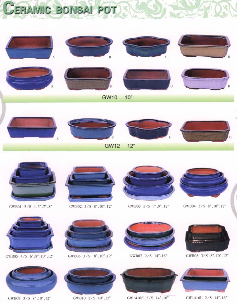 Cerâmica vidrada vaso de Bonsai-Vasos e jardineiras de ...