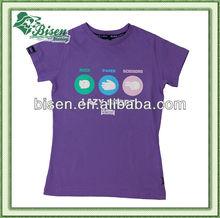 Popular summer custom 100% cotton round collar t-shirts