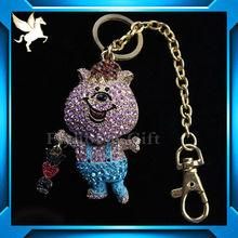 diamond ring key chain/crystal keychain/flashing keychain