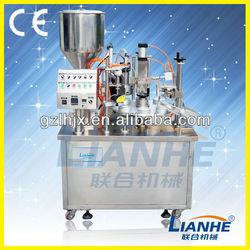 Inner heating tube filling and sealing machine filler and sealer for tube