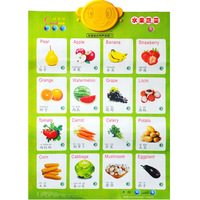 VEGETABLE WALL CHART FOR BABY LEARNING
