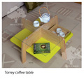 Vidrio base de madera mesa de café