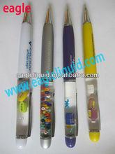 2013 Good Promotion Gift Different 3D Glitters Float Pen