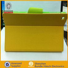Hot selling pu leather wallet case for iPad mini, for mini ipad book shell