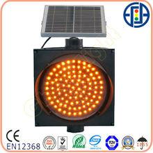 300mm yellow full ball solar flashing LED warning Traffic Light