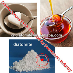 diatomite / diatomaceous earth filter aid for sugar industry sweeteners filtration sugar syrups sugar alcohols DE filter media