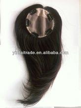NEW VIRGIN EUROPEAN BONDABLE OR CLIPABLE HUMAN HAIR MONO BANGS TOPPERS WIG DARKES