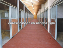 Rubber mat for horse room