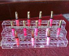 clear acrylic lipstick organizer with 3 tiers