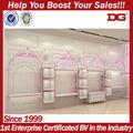 estilo romântico rosa mostrar sapato idéias para loja de varejo