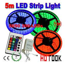 warranty 2 years CE RoHS 12V RGB 5m 300leds 5050 rgb dream color 6803 ic led strip light