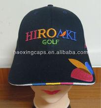 4-colour sandwich peak cotton mesh tour golf running cap hat