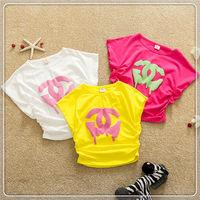 2013 Most popular kids t-shirt plain white t-shirts for girls children