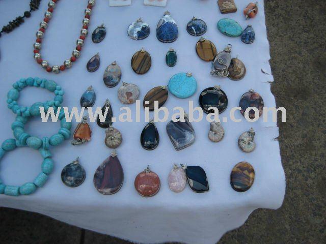 Mexican precious stone trinkets charms