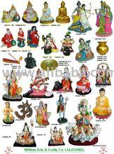 Polyresin Indian God, Hindu God Statues, Pooja Products (Sun God)