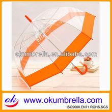 Shenzhen unique rain transparent PVC umbrella manufacturer