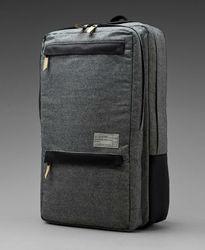Designer waxed denim elegant backpack