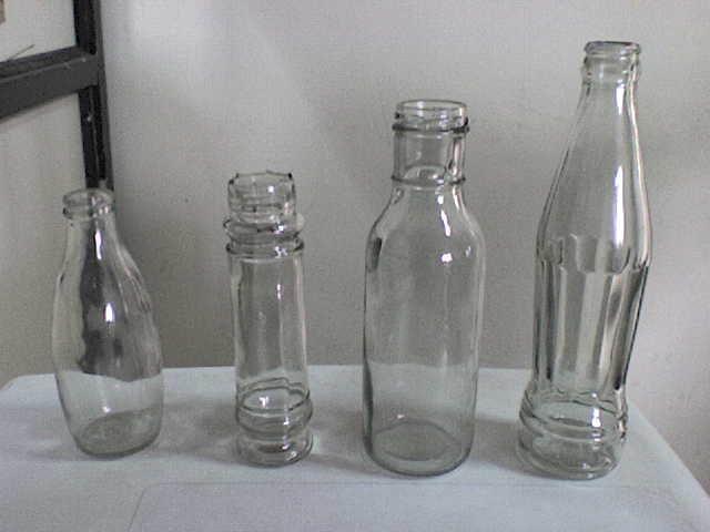 botellas de vidrio para las bebidas gaseosas y bebidas