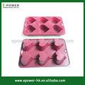 Hot houseware silicone em forma de coração molde do bolo