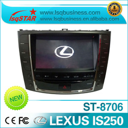 2 din autoradio manufacture for Lexus IS250/IS300/IS350 with GPS/Bluetooth/FM/AM/RDS/TV/CD/DVD Charger/Steering Wheel control