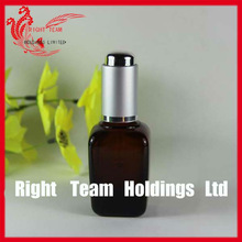 cosmetic square glass bottle for essential oil glass bottles cosmetic packaging