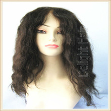 Top quality!Brazilian virgin hair wet and wavy full lace wigs