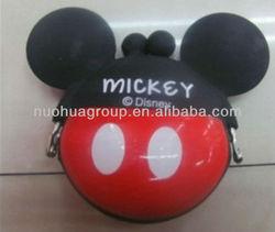 newest design mini square silicone smart wallet for mickey design