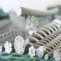grade ss 304 316 high strength flexible shaft wire rope