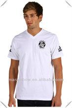 Men's Cotton V-neck Fashion T-shirts & Small Quantity Men Clothing Manufacturer